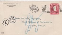 Etats Unis Entier Postal Privé Taxé Pour L'Allemagne 1906 - Ganzsachen