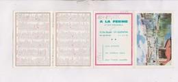 PETIT CALENDRIER  1966 (en 4 Volets) A LA FERME CREMERIE A ST QUENTIN - Calendriers