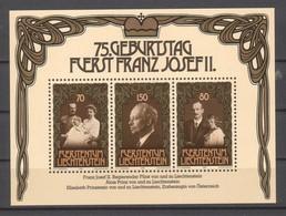 LIECHTENSTEIN.  1981 Gebustag Franz Joseph II BF  MNH - Neufs