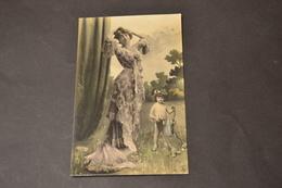 Carte Postale 1920 Femme Avec L'ange De L'amour - Femmes