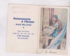 PETIT CALENDRIER  1987 POISSONNERIE A L OCEAN ANDRE BELLOCQ - Calendarios