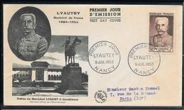 FDC 1953 - 950 Maréchal Lyautey - FDC