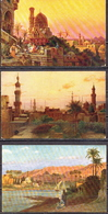 Egypt 3 Mint PPCs, Landscape Paintings - Egypt