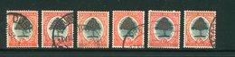 AFRIQUE DU SUD- Divers Timbres (orangers)- Oblitérés - Oblitérés