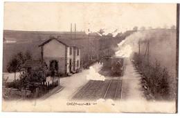 Aisne Chézy Sur Marne La Gare Avec Le Train - Frankrijk