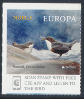 """NORWAY/Norwegen, EUROPA 2019 """"National Birds"""" Booklet Pane Of 2v**full Margins Pair! - 2019"""