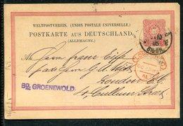 Deutsches Reich / 1885 / Postkarte Nach London, Roter Ankunfts-Stempel (12982) - Allemagne