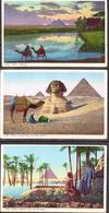 Egypt 8 Mint PPCs, Pyramids - Pyramids
