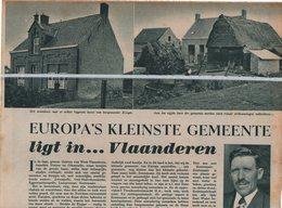 ZOUTENAAIE..1939.. EUROPA'S KLEINSTE GEMEENTE / OSKAR KINGET BURGEMEESTER/ SCHEPEN HENRI DECLERQ - Vieux Papiers