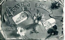 N°72629 -cpa Souvenir De Romigny -multivues- - Other Municipalities