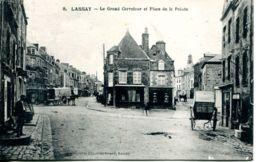 N°72630 -cpa Lassay -le Grand Carrefour Et Place De La Pointe- - Lassay Les Chateaux