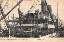 Antwerpen Anvers  A Bord Le Pont D'un Transatlantique Aan Boord Van Het Schip Boot Stoomboot Steamer      I 6027 - Antwerpen