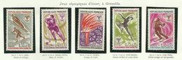 FRANCE - 1968 - JEUX OLYMPIQUES D'HIVER GRENOBLE - YT N° 1543 à 1547 - TIMBRES NEUFS** - Frankreich