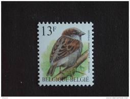 België Belgique Belgium 1994 Vogels Oiseaux Buzin Huismus Moineau Domestique Witte Gom 2533 MNH ** - 1985-.. Oiseaux (Buzin)