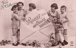ENFANTS - Recevez Nos Meilleurs Voeux - Vive Ste Catherine - Humorkaarten