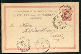 Deutsches Reich / 1880 / Postkarte K1-Stempel THORN Nach Lodz, Weitere Stempel (12995) - Deutschland