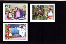 Lot 3 Images, Le Petit Chaperon Rouge, Editions Educatives, Scolaire, Illustrateur Calvet-Rogniat - Vieux Papiers