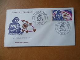 POLYNESIE FRANCAISE FDC POSTE AERIENNE N° 72 COPERNIC ASTRONOMIE PLANETE SOLEIL - FDC