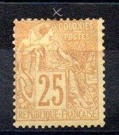 COLONIES GENERALES - YT N° 53 - Neuf * - MH - Cote: 20,00 € - Alphee Dubois