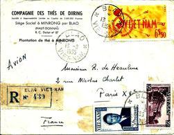 Compagnie Des Thés De DJIRING-Cachet De BLAO -1955 - - Viêt-Nam