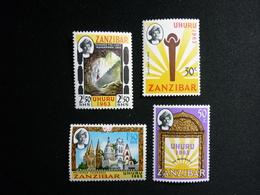 ZANZIBAR, 1963 Sultan Seyyid Jamshid Bin Abdulla Scott #281-4 Cv 1,45$ MNH - Zanzibar (1963-1968)