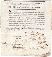 Loudun (86) Armée Du Rhin ; 13 Thermidor An 2 ; Jean Poncet : 2 Certificats ;nombreuses Signatures - Documentos Históricos