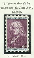 FRANCE - 1968 - 3ème CENTENAIRE DE LA NAISSANCE D'ALAIN-RENÉ LESAGE - YT N° 1558 - TIMBRE NEUF** - Frankreich