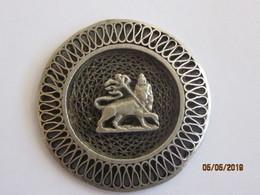 Ethiopie: Médaillon - Fil D'argent Tressé - Lion De Juda - Gioielli & Orologeria