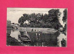 17 Charente Maritime, Saujon, La Seudre à Ribéron, Poste Des Ponts-et-Chaussées, Animée, Barques, () - Saujon