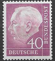 1954 Allem. Fed. Deutschland    Mi. 188  **MNH  40  Pf.  Bundespräsident Theodor Heuss - Nuevos