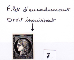 Cérès Variété  Non Dentelé, 170 Ans Du Premier Timbre De France 1849/2019 - Neufs