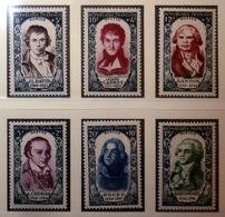 FRANCE 1950 N°867 À 872 ** (PERSONNAGES CÉLÈBRES DE LA RÉVOLUTION DE 1789) - Unused Stamps