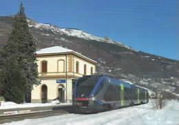 561 ALn 501 MD Minuetto Stazione Di NUS Aosta Rairoad Treain Railweys Treni Rotabili - Stazioni Con Treni