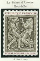 FRANCE - 1968 - LA DANSE D'ANTOINE BOURDELLE - YT N° 1569 - TIMBRE NEUF** - Frankreich