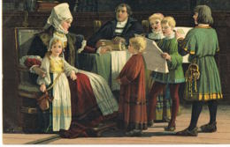 Paul POETZSCH - 1858-1936- Peintre De La Belle Epoque- LUTHER Im Kreise Seiner Famille- Steingel 29056l - Paintings