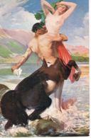 A.P LUPIAC - 1873- 1956 -- Pinxit -Centaure Et Sirène- Centaur And Sea-maid-Recto Verso- Paypal Free - Paintings