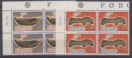 Europa Cept 1989 Faroe Islands 2v Bl Of 4 (corner) ** Mnh (42617) - 1989