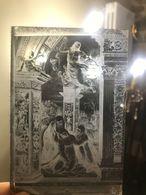 Coppia Di Negativi Diapositive In Vetro Di Cartoline Di Siena Dipinti Interni Anni 40/50 - Diapositiva Su Vetro