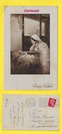 CPA  ֎ Buon NATALE ֎ MARIE JESUS ֎ Peu Commune 1930 (  Image Chromo ) - Cristianesimo