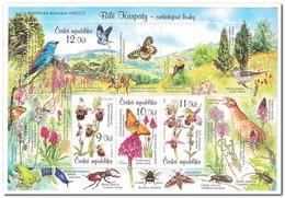Tsjechië 2007, Postfris MNH, Flora, Fauna, Birds, Butterflies, Orchids, Insects - Tsjechië