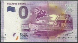 Billet Touristique 0 Euro 2016   PEGASUS BRIDGE 6 Juin 1944 épuisé - Essais Privés / Non-officiels