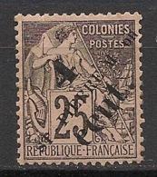 SPM - 1891-92 - N°Yv. 42 - Alphée Dubois 4c Sur 25c Noir Sur Rose - Neuf * / MH VF - St.Pierre & Miquelon