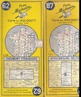 2 Cartes Michelin 62 Et 87 - Cartes Routières