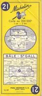 Carte Michelin N° 21 Bâle - ST GALL - Roadmaps
