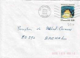 TP N° 2504  Seul Sur Enveloppe De Cérences - Postmark Collection (Covers)