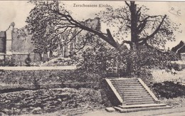 Zerschossene Kirche, Feldpost Expedition DFR23, Reserve Division, 2 Scans (pk60212) - Guerre 1914-18