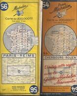 2 Cartes Michelin N° 54 Et 56 - Cartes Routières