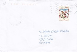 Finland - 078/2008 - Letter Ordinary From Kaskinen To Sofia/Bulgaria, Single Franked - Finland