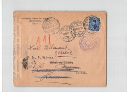 1486 01  NATIONAL BANK OF EGYPT ALEXANDRIA TO MONTREUX LAUSANNE GENEVE - CENSOR - Egitto