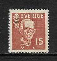 SUEDE  ( EUSU - 346 )  1938  N° YVERT ET TELLIER  N°  255a  N* - Schweden